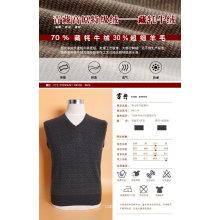 Yak Wolle / Kaschmir V-Ausschnitt Pullover Langarm-Pullover / Kleidung / Garment / Strickwaren