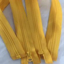 Promotional yellow plastic separating coat zippers