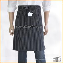 Avental de algodão com 3 bolsos e meia cintura