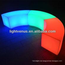 Curved LED Hocker