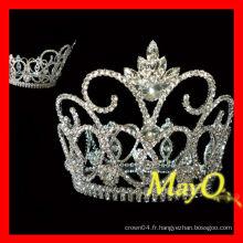 Brillant grande couronne de tiare de concours de diamants