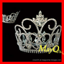 Shining grande diamante pageant tiara coroa
