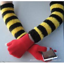 10г акриловый вкладыш в полоску хлопок работу перчатка с защитным запястье