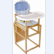 Convertible Babies High Chairs For Restaurant , Wooden Baby High Chair