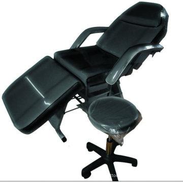 Chaise réglable noire de tatouage, tabouret de tatouage, approvisionnement portatif de chaise de tatouage