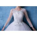 Плюс Размер Длинные Рукава Бальное Платье Свадебное Платье Свадебное Платье Китай