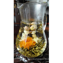 Unique shape blooming tea