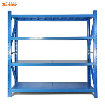 middle duty boltless metal long span warehouse rack