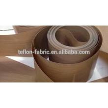 China precio al por mayor de alta calidad de alta resistencia a la temperatura no adherentes PTFE teflón cinta transportadora