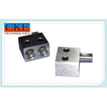 Black Anodized CNC Machined Parts , CNC Metal Block For Ele