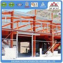 Edificio de la casa de oficina de la estructura de acero de la luz del prefabricado del bajo costo hecho a medida para la venta