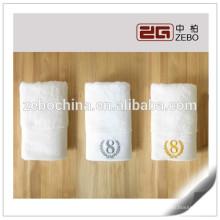 Hotel Usado 100% Algodão personalizado tecido macio branco toalha de rosto de linho