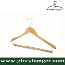 Plywood Hanger for Wholesale Hotel with Pant Bar