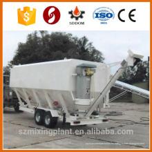 Silo de cenizas de cemento móvil, silo horizontal de cemento