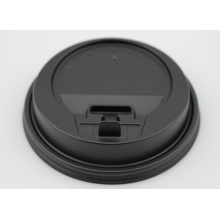 Couvercle en plastique noir pour tasses en papier chaud