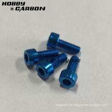 Parafusos de cabeça de tampa de soquete de alumínio M3 coloridos