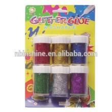 Washable glitter glue paint for decoration , color set