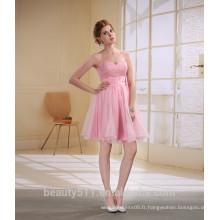 Short Gaine / Colonne Sweetheart Short / Mini Taffeta avec robe de bal Crystal EK24