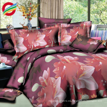 sábanas de algodón 3d de lujo moderno 100% impresa