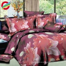 modern luxury 100% cotton printed 3d bedding sheet