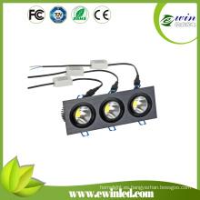 Blanco 4000k-4500k 3 * 6W Square LED Downlight con CE / RoHS aprobado