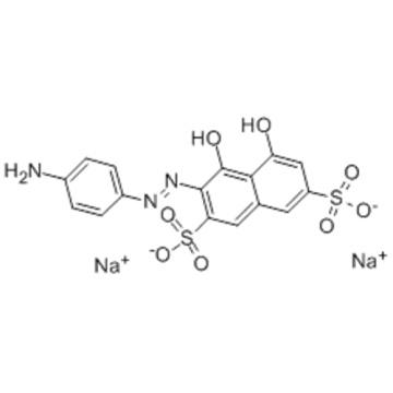 2,7-Naphthalenedisulfonicacid, 3-[2-(4-aminophenyl)diazenyl]-4,5-dihydroxy-, sodium salt CAS 1681-60-3