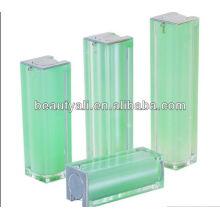 15ml 30ml 40ml 50ml 80ml 100ml 120ml cuadrado acrílico cosmético envasado airless botella