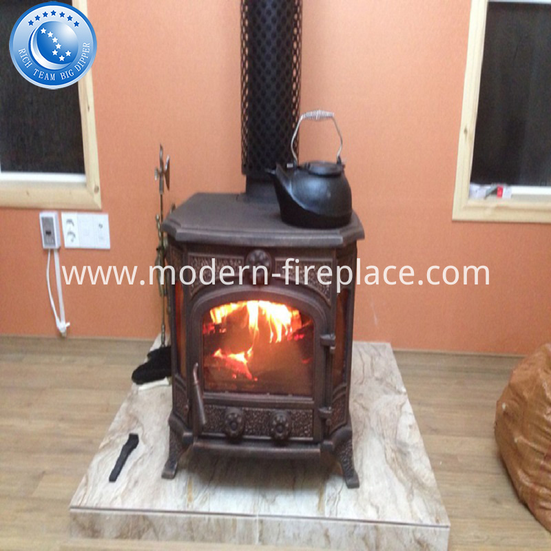 Wooden Case Cast Iron Wood Burning Stoves