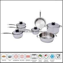Waterless Cookware Greaseless Cokware Surgical Stainless Steel Cookware