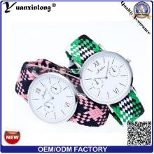Tejido de fibra personalizada YXL-200 reloj deportivo de lona Nylon la OTAN alta calidad dama vestido de relojes
