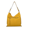 Daily Use Genuine Hobo Bag With Adjustable Strap