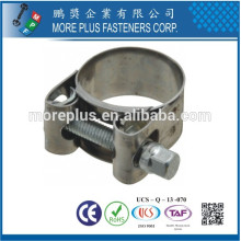 Made in Taiwan Plastic Stainless Steel Large Schlauchklemmen T Bolt Hose Clamp