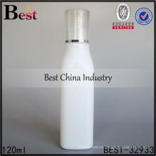 botella de aceite esencial blanca de porcelana, botella de cristal cuadrada de la forma 120ml