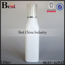 porcelain white essential oil bottle, 120ml square shape glass bottle
