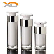 15ml 30ml 50ml stock transparent round shape acrylic airless bottle for lotion or essence