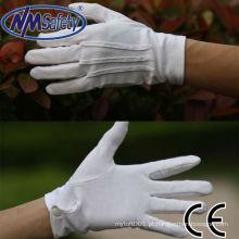 Mão de algodão NMSAFETY luvas de trabalho luvas de pvc pontilhada máquina fazendo