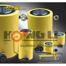 Cilindro hidráulico de carrera larga Hongli / cilindro hidráulico de carrera larga de 3 etapas