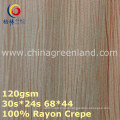 100%Rayon Crepe Woven Dyeing Fabric for Garment Textile (GLLML373)