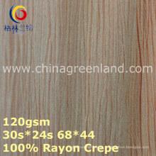 Tela de tingidura tecida crepe de rayon de 100% para a matéria têxtil do vestuário (GLLML373)