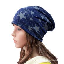 Мода Звезда печатных хлопок трикотажные зима теплая лыж Hat (YKY3125)