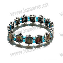 Holy Christian Picutres Metal Alloy Saints Bracelet
