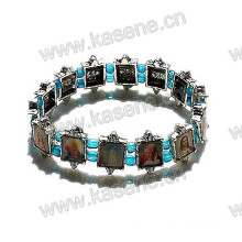 Holy Christian Picutres Metal Alloy Saints Pulseira