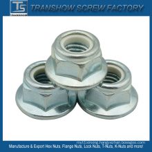 Hexagon Head Nylon Insert Flange Nut