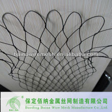 7*7mm knotted stainless steel wire rope mesh