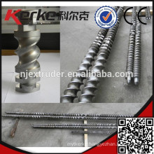 Wood screws for pvc wpc pelletizing/profile extrusion machinery