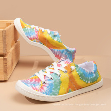 wholesale breathable casual shoes comfortable woman shoes fashion canvas painting shoes