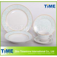 Ensemble de vaisselle classique en porcelaine