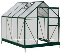 Guangzhou BEGREEN polycarbonate agricultural greenhouse equipment with strong structure for sale