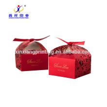 Caixa de presente de papel doce doces decorativos para casamento, papel de caixa de presente