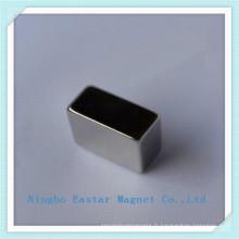 Aimant de bloc de néodyme N42 personnalisés avec nickelage